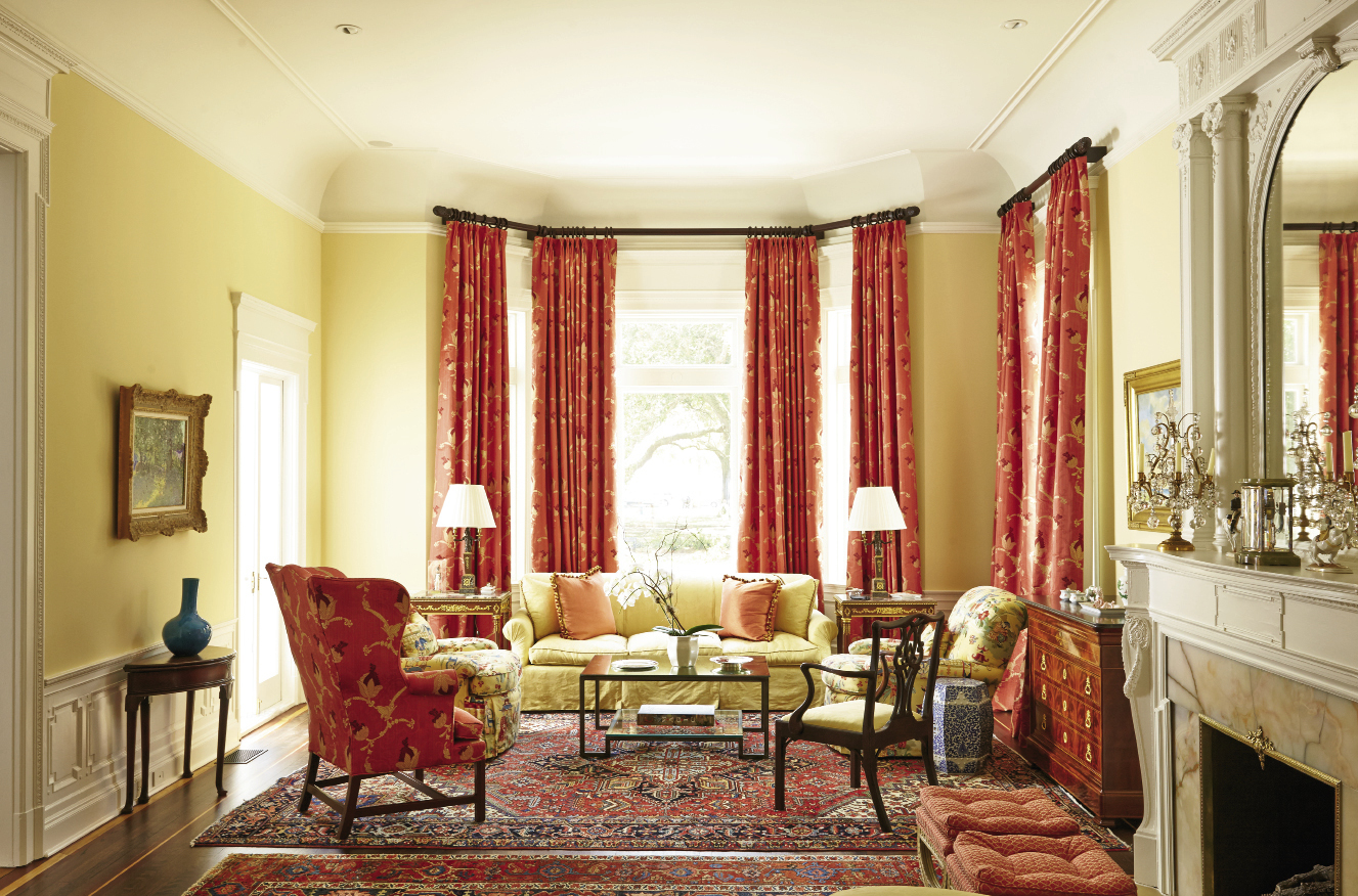 Interior designer Carolyn Griffith ensured the living room's formality was still comfortably family-friendly.