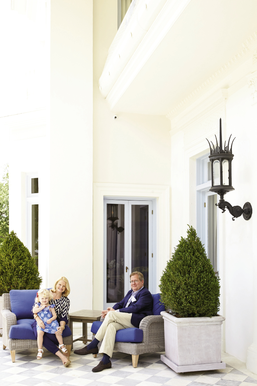 Stephen and Mary Hammond (pictured here with two-and-a-half-year-old Marilen) revived the famed villa, restoring the flow and grandeur it boasted before becoming a hotel.