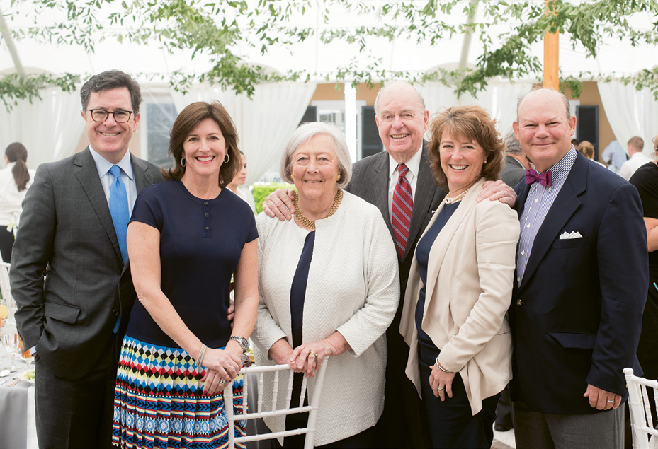 """Peter and Patti at the Spoleto luncheon with their daughters and sons-in-law, Evelyn (""""Evie"""") and Stephen Colbert and Madeleine and Bunky Wichmann"""