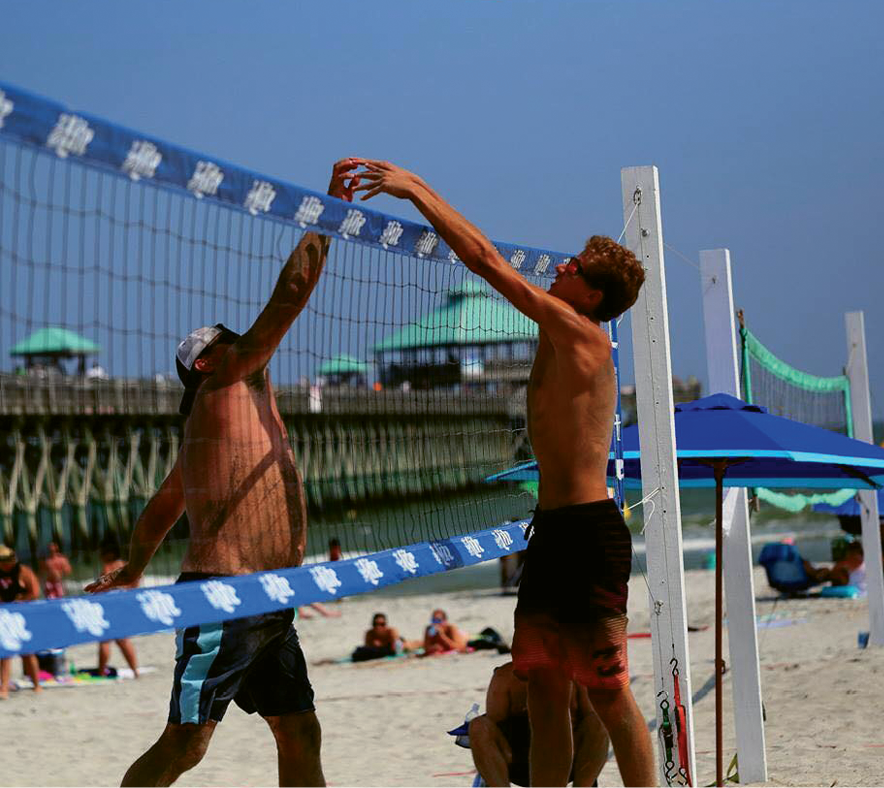 """Folly Beach Volleyball Club hosts Summer Sundays tournaments, including """"King of the Beach"""" on June 4 and August 6 and """"Team Doubles"""" on July 9."""