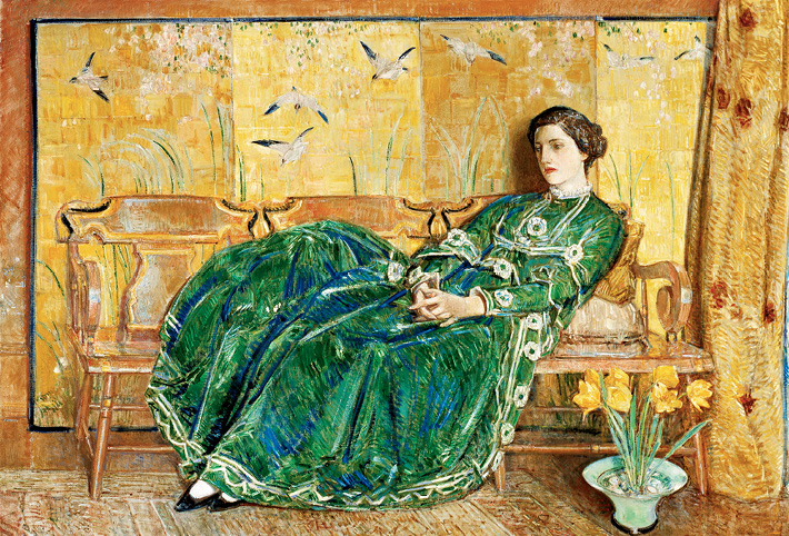 Peruse the Gibbes Museum's collection, including Childe Hassam's April (The Green Gown).