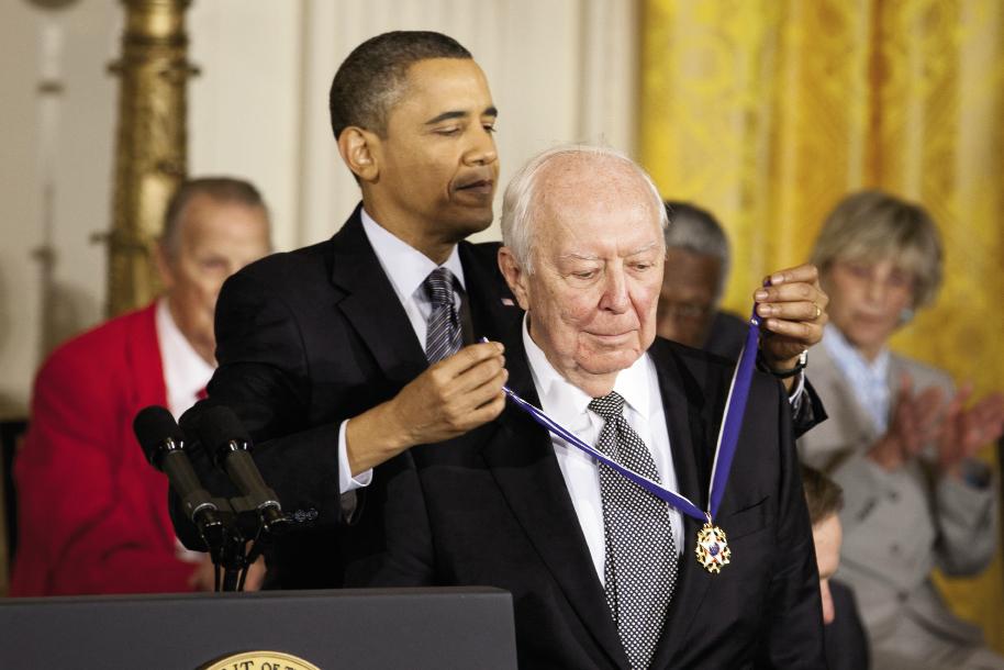 art giant: In 2010, President Barack Obama awarded Jasper Johns with the Presidential Medal of Freedom.