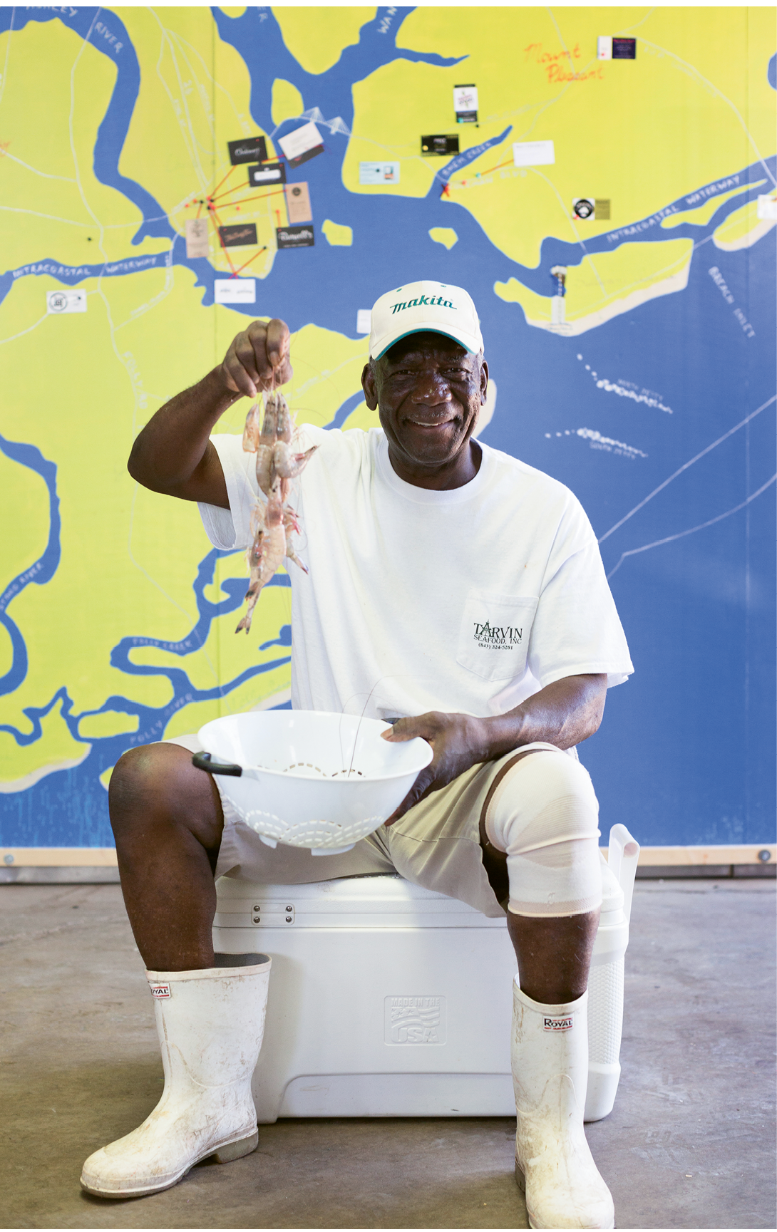 Longtime local shrimper John Henry Middleton is Cindy Tarvin's right-hand man at Tarvin Seafood
