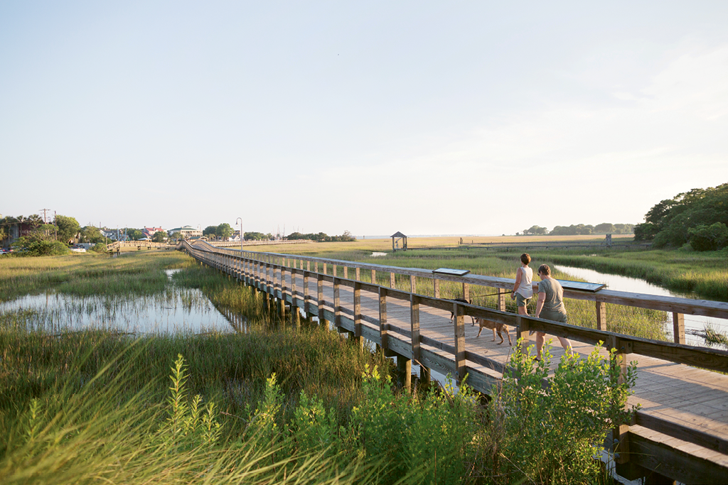 Phase One of the Town of Mount Pleasant's Shem Creek Park, including 2,200 feet of boardwalk, was completed in October 2012.