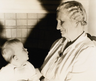 pictured as an infant in 1950