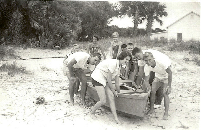Campers pictured in 1952
