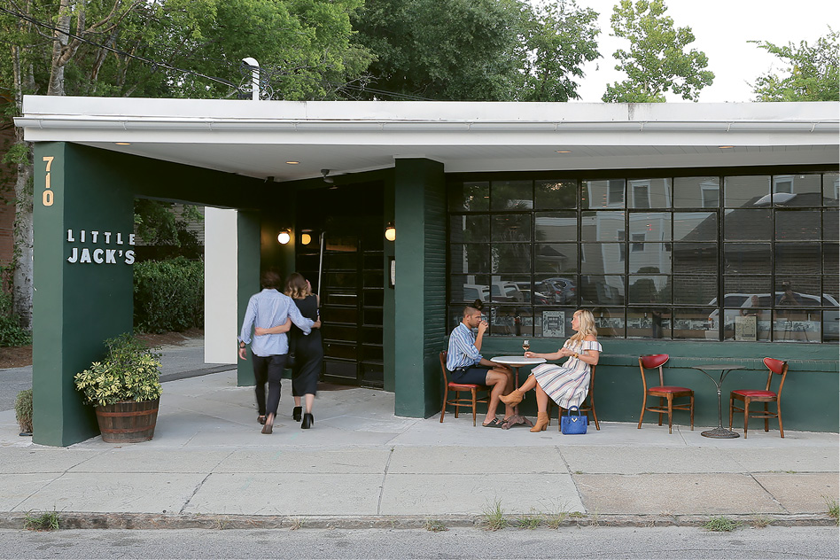 Curb Appeal: Date night becomes simpler with parking available behind the restaurant and in a nearby lot.