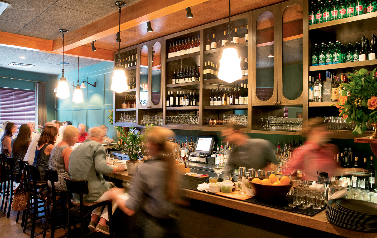 Bar scene: FIG's wine program earned a James Beard Award nomination in both 2015 and 2016.