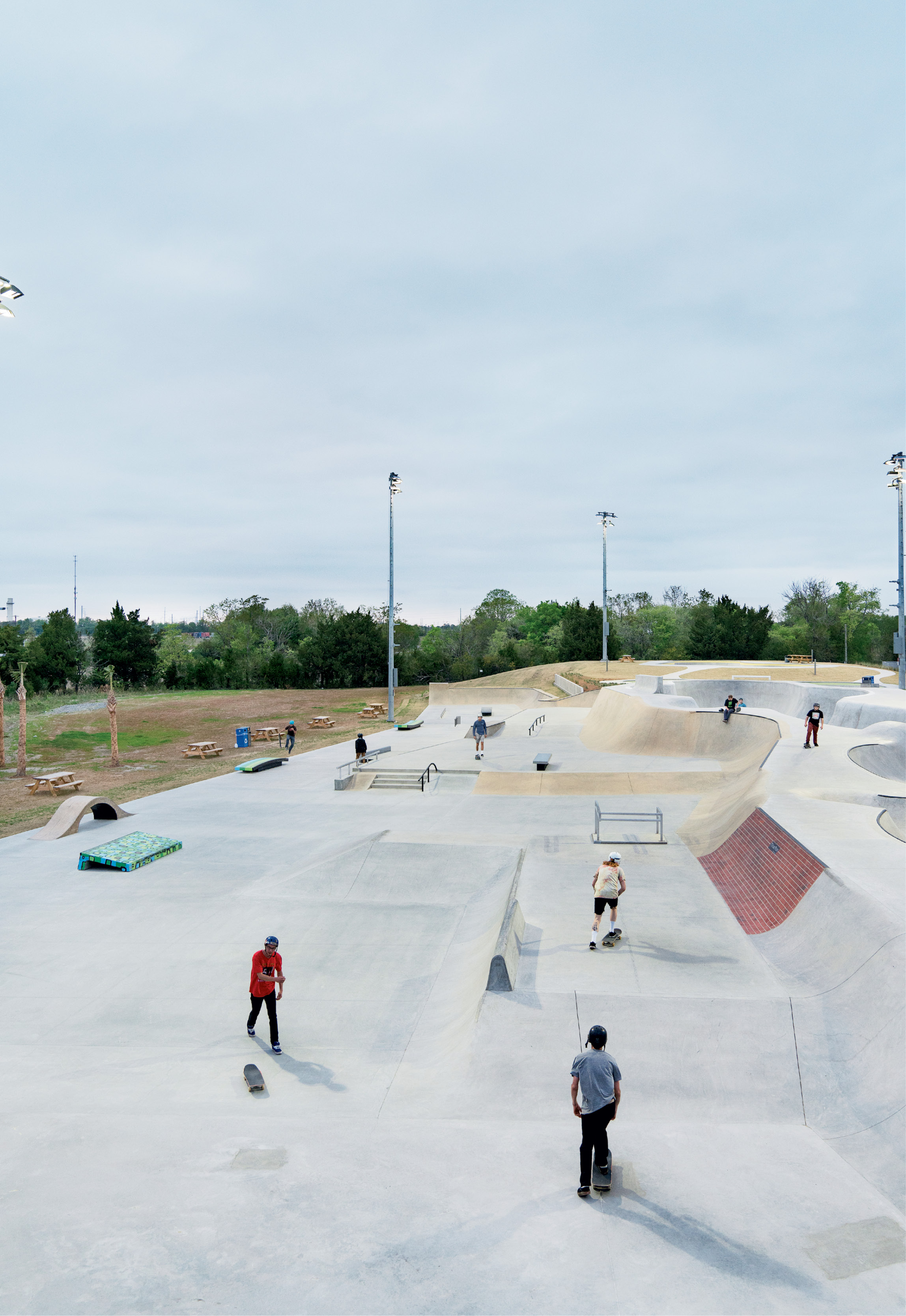"""The Street Course replicates surfaces found on city streets and features three pieces of """"skate art"""" and three pieces of marble."""