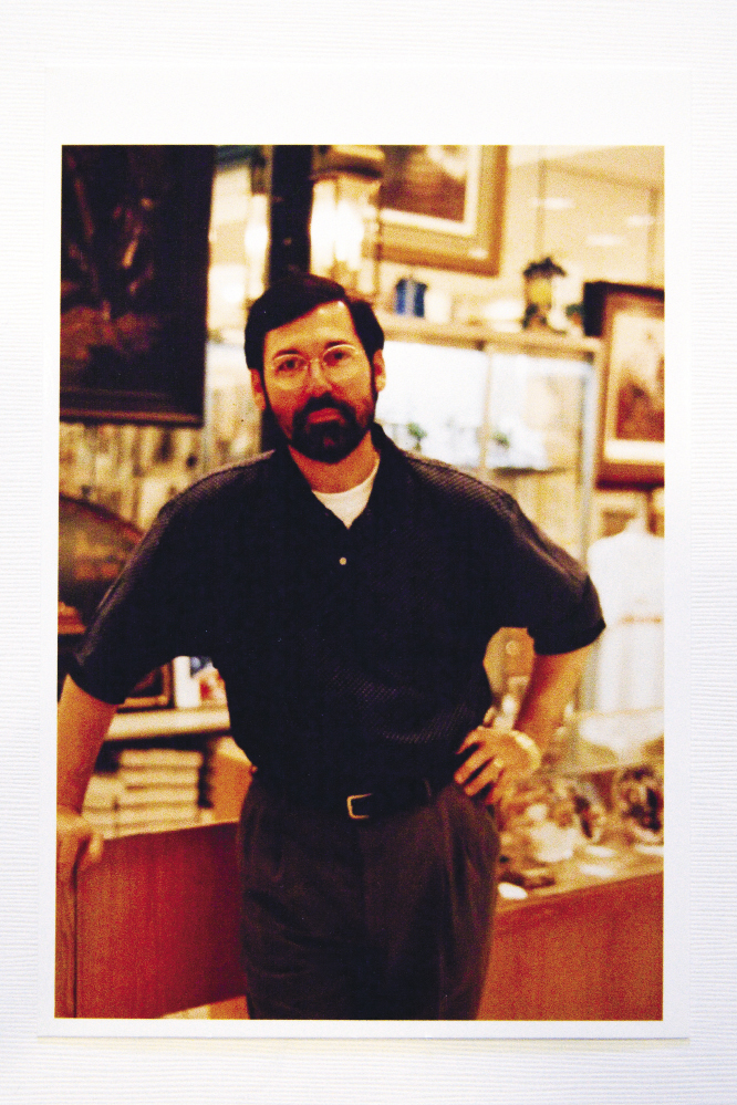 preparing for his role in The Hunley in 1998. Photograph by Caroline Tan