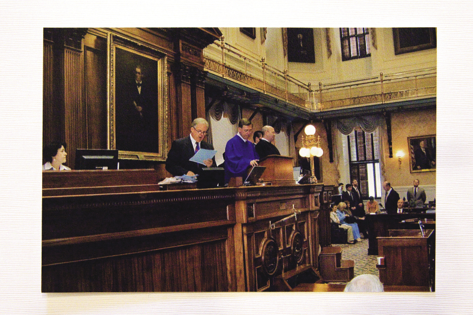 Presiding as Lieutenant Governor over the State Senate in 2012. Photograph by Caroline Tan