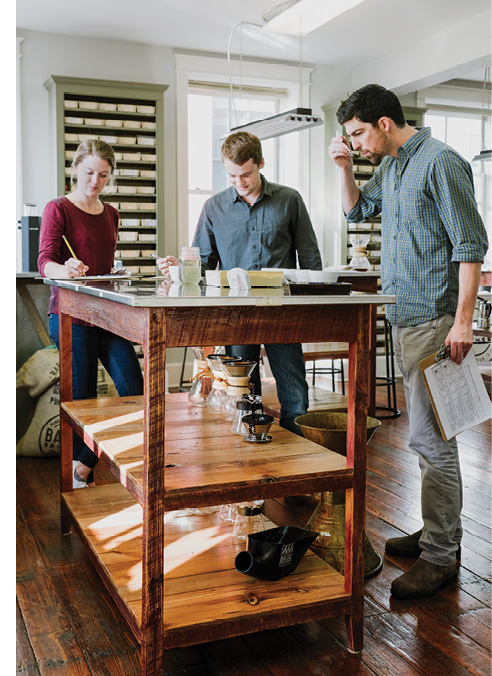 Balzac Brothers' coffee lab