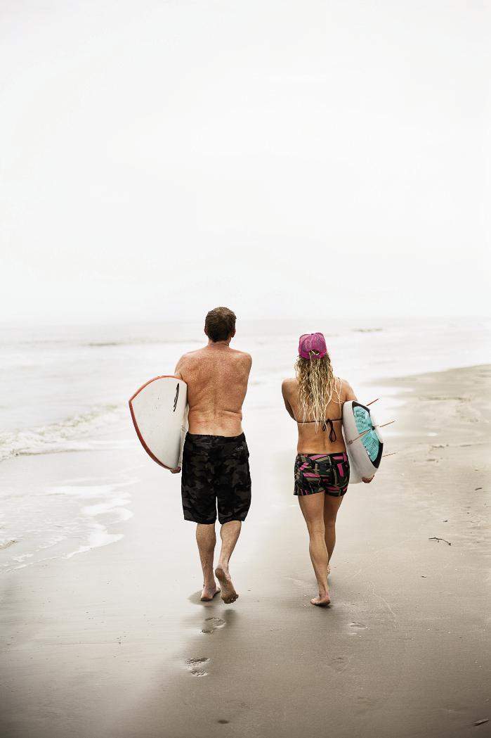 Chris Dixon and Jenny plot their next beach landing.