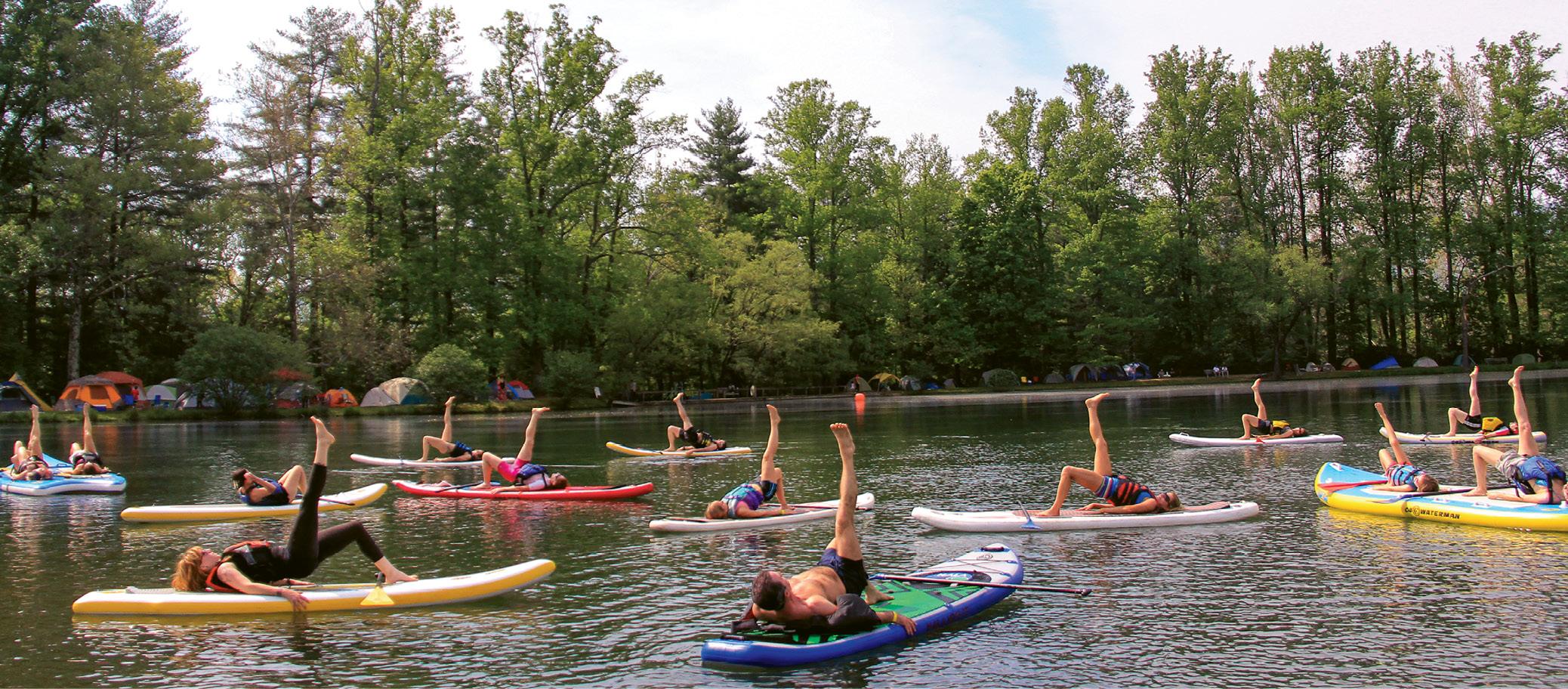 Finding balance during a Charleston SUP Safaris paddleboard yoga class