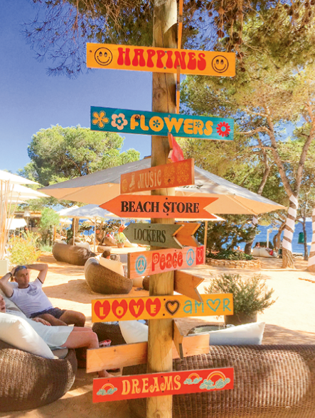 A sign post in Ibiza, Spain
