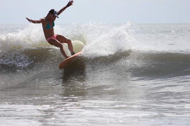For two hours on weekend mornings, ladies of all skill levels can learn more about surfing technique and safety from surf and yoga instructor Jenny Brown.
