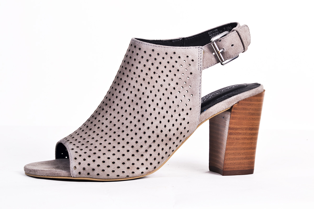"Adam Tucker ""Meridia"" perforated heeled sandal, $129 at Copper Penny Shooz"