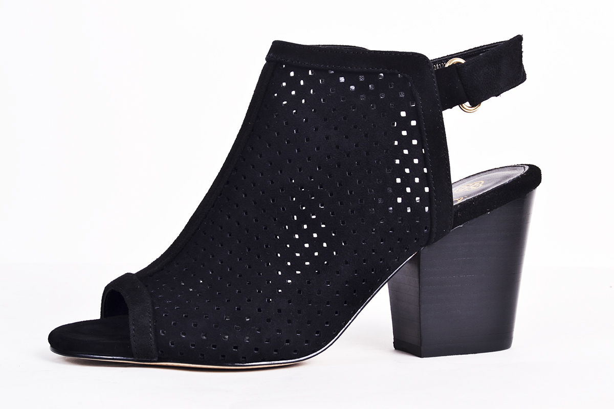 "Isola ""Lora"" perforated suede slingback, $110 at Copper Penny Shooz"