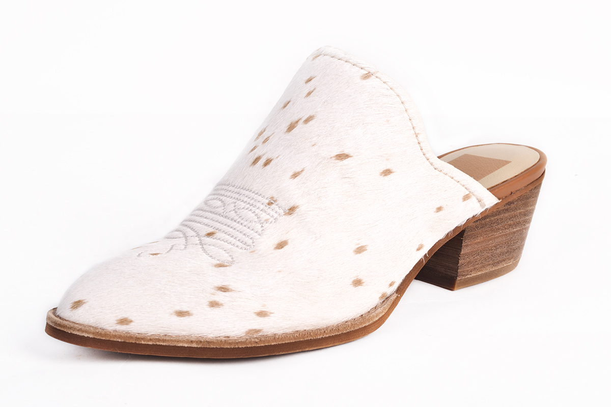 "Dolce Vita ""Shiloh"" calf hair heel in ""sand,"" $150 at Shoes on King"