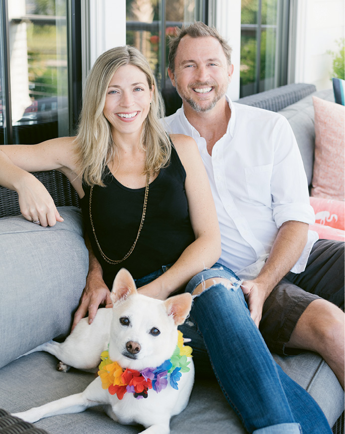 Melissa and Brad with Tippy, their whippet-Chihuahua mix