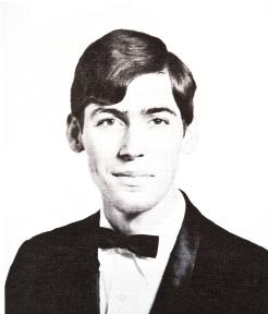 his college senior portrait;