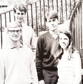 with fellow students at the College of Charleston (CofC) in 1967