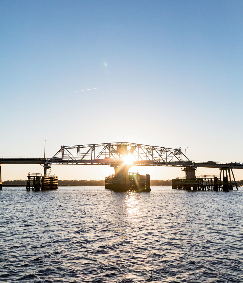 The bridge between downtown Beaufort and Lady's Island across the river