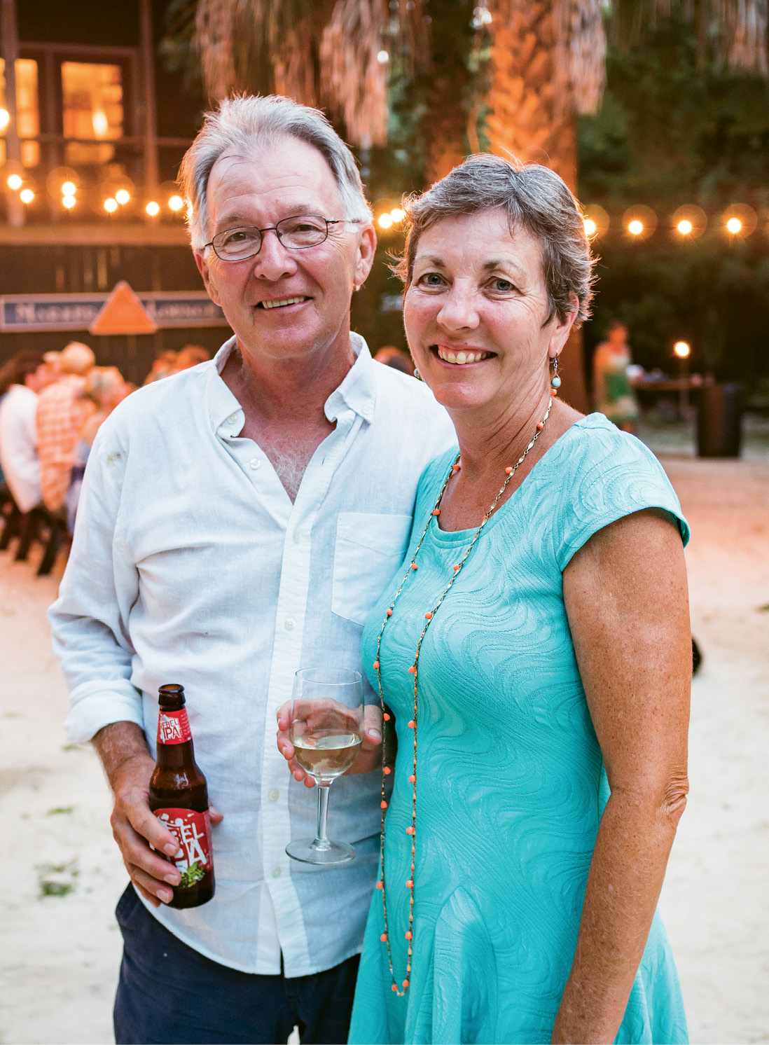 Hosts Dennis and Diann Clark very much at home in their Goat Island Gatherings event venue