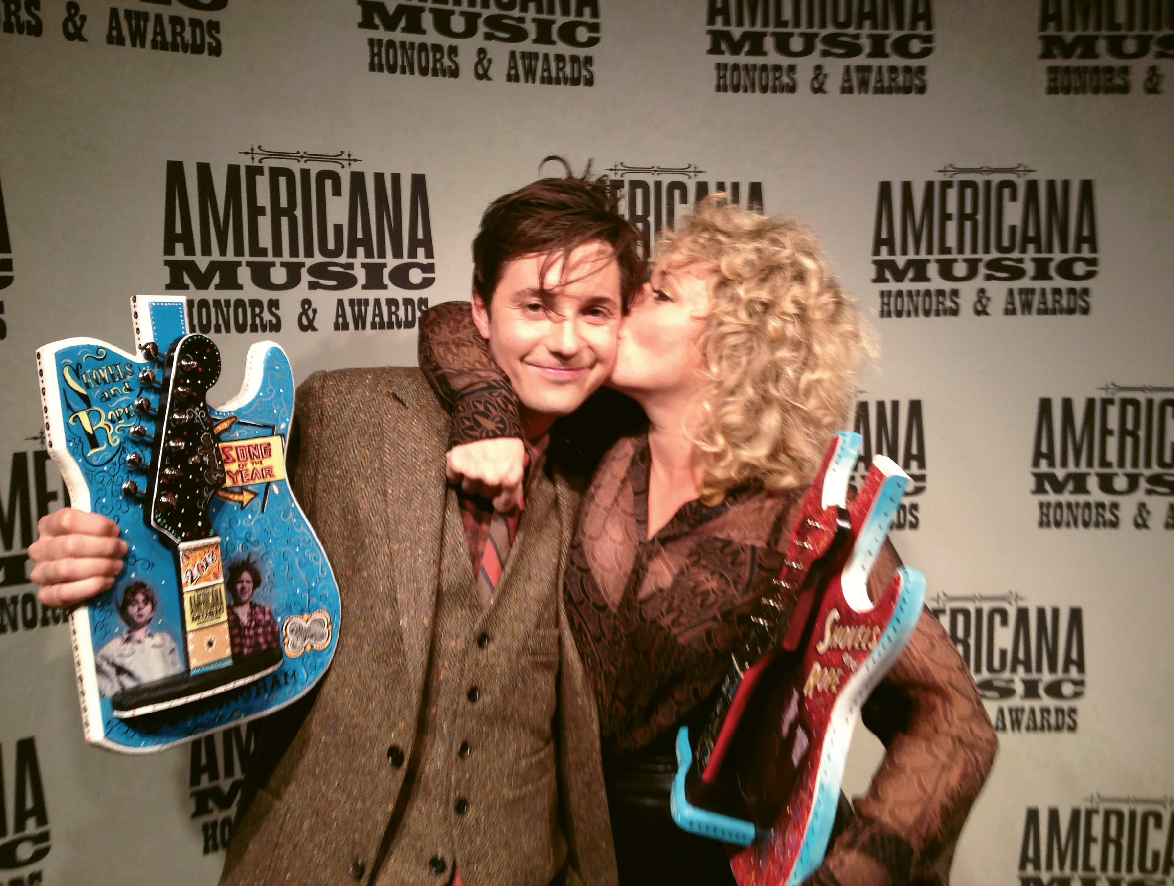 Winning big at the Americana Music Awards in 2013