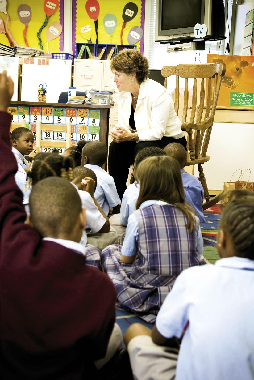 Former Charleston County School District superintendent Nancy McGinley