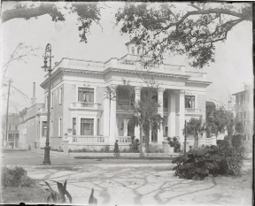 A vintage shot of the 120-year-old Beaux Arts-style home. PHOTOGRAPH (HISTORIC) BY GEORGE W. JOHNSON, COURTESY OF THE GIBBS MUSEUM OF ART / CAROLINA ART ASSOCIATION