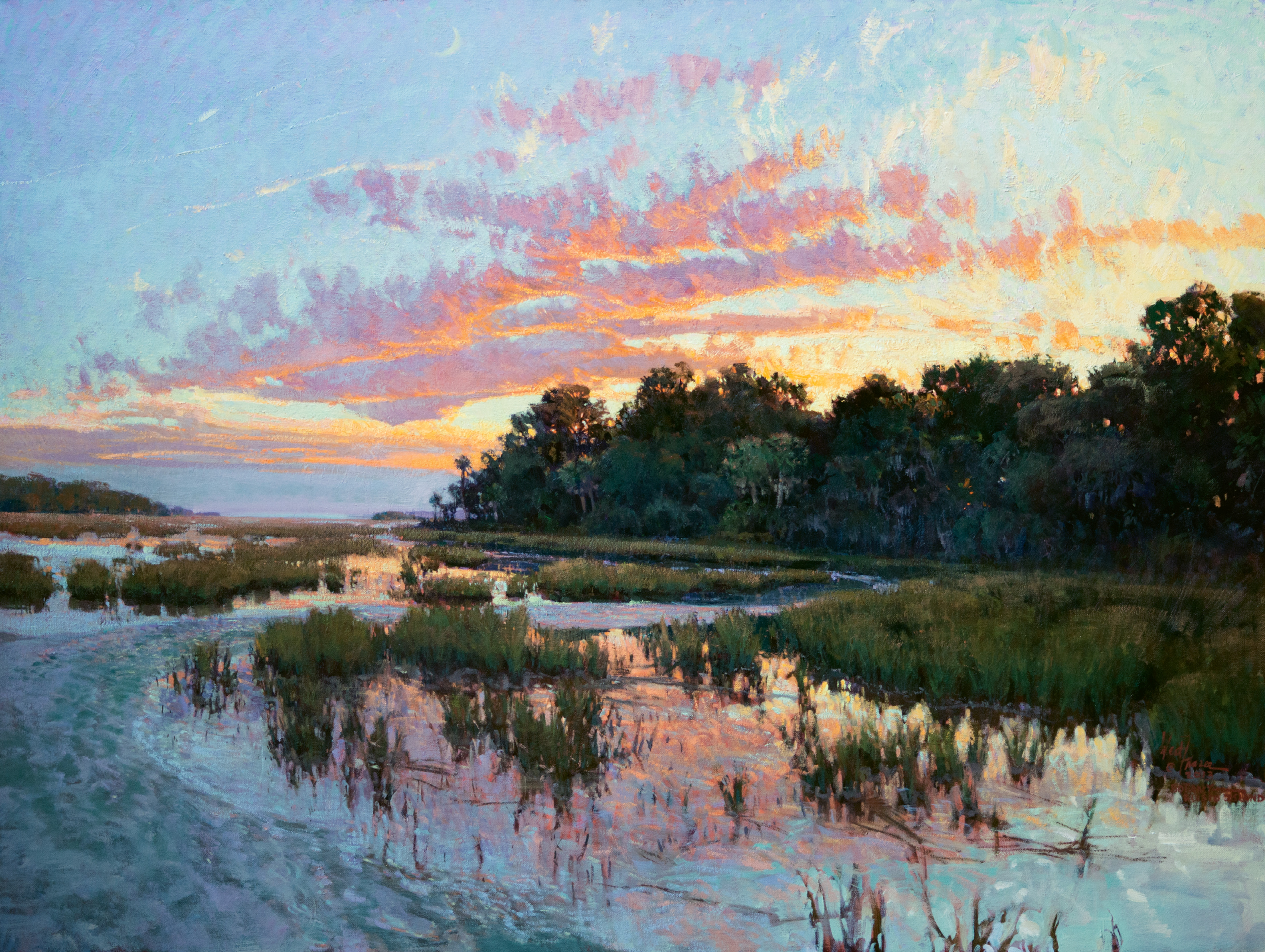 Carolina Red (Botany Bay Plantation, Edisto Island, South Carolina; oil; 36 × 48 inches; 2013; collection of Mr. and Mrs. Turner C. Smith)