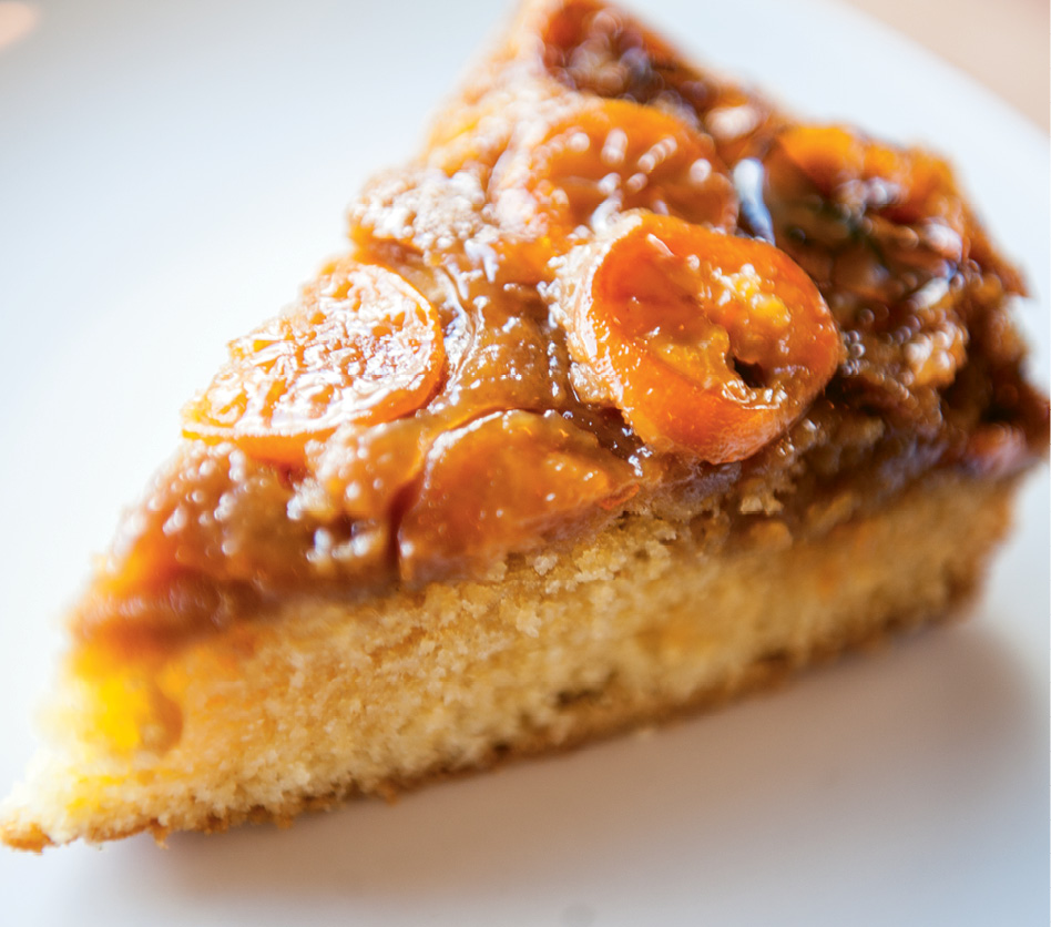 Morning Treat: Kumquat slices and a sticky streusel top the soft, buttery coffee cake.
