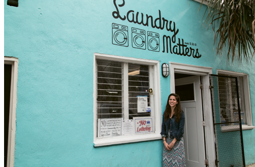 With a mini-grant from the Lowcountry Unity Fund, Samantha Sammis expanded programs at Laundry Matters, a community hub where neighborhood students gather to learn computer coding skills on Wednesdays, as a collaboration between her nonprofit, Loving America Street, and Women in Tech. Photograph by Michael Powell
