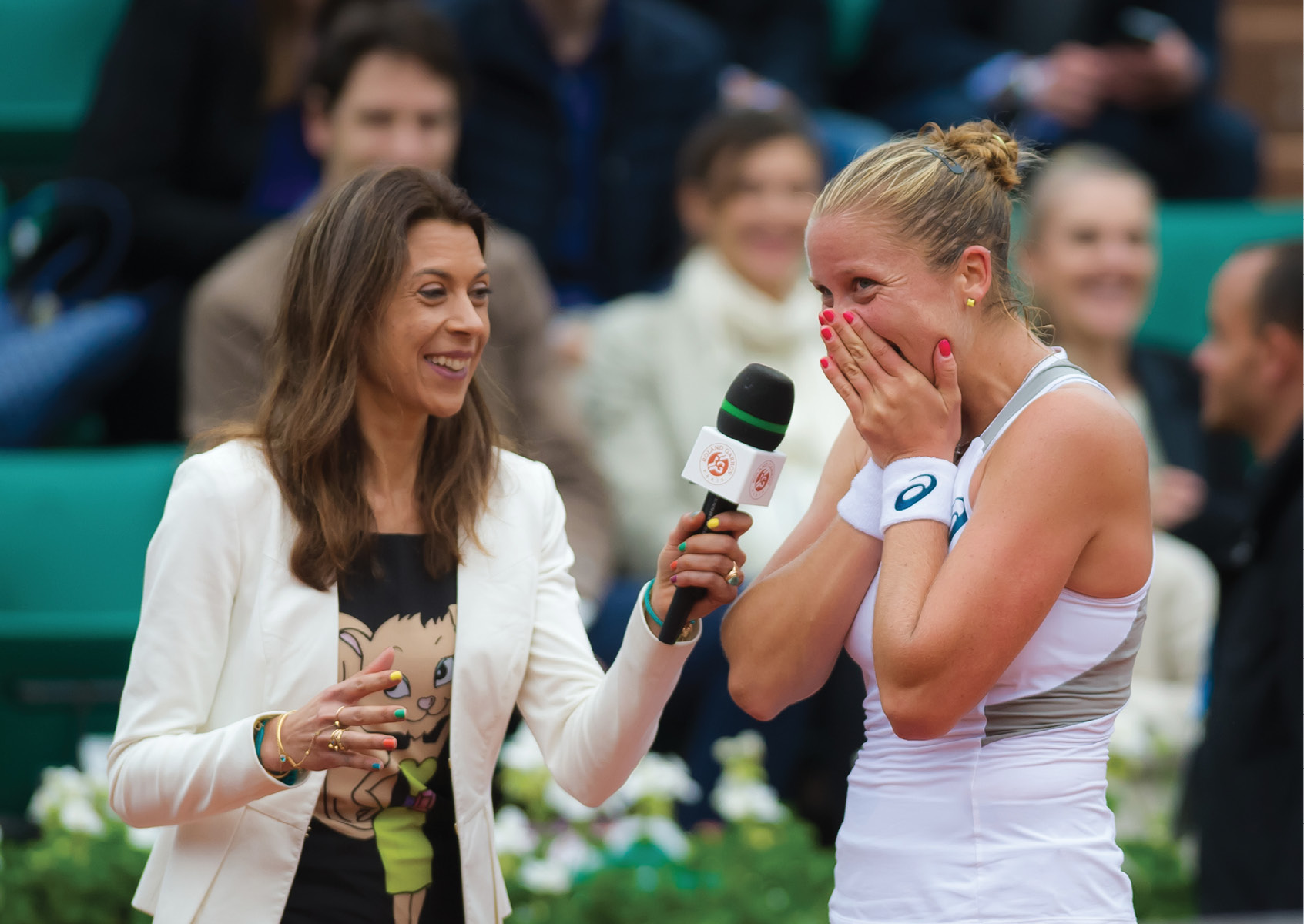 "During her French Open on-court interview with Marion Bartoli after her win into the quarterfinals, Rogers tearfully said, ""I always dreamed it would happen, but I'm not sure I thought I could."""