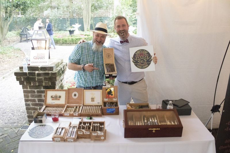 "King's Leaf Cigar Loune's ""bartenders"" Miles Foster and Brian Lucier"
