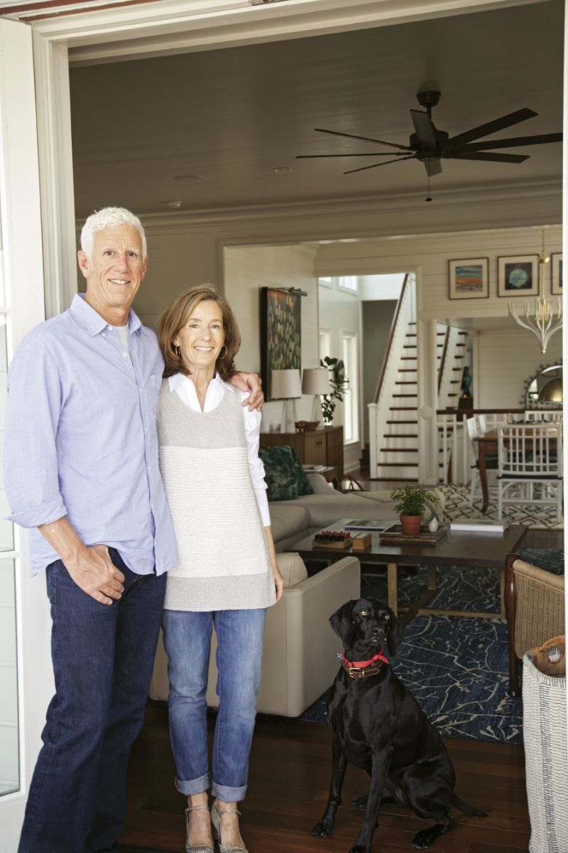 Homeowners Steve and Lynne Hamontree with their German shorthaired pointer, Jasper