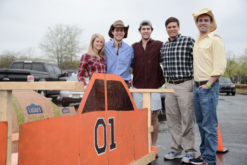 The General Lee team stood proudly behind their masterpiece.