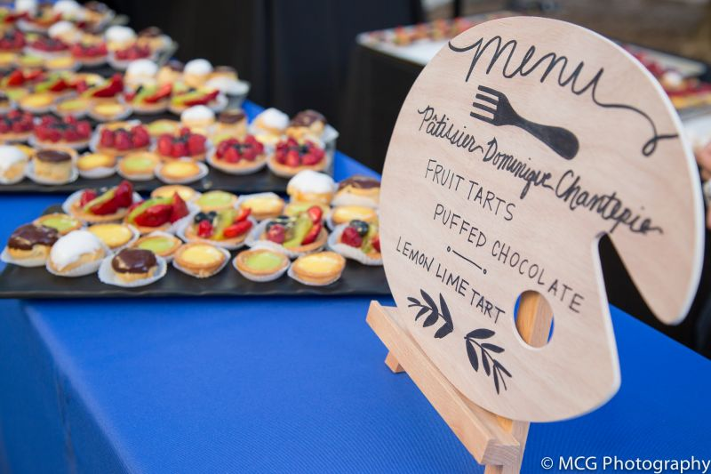 An array of mini tarts from Cafe Framboise