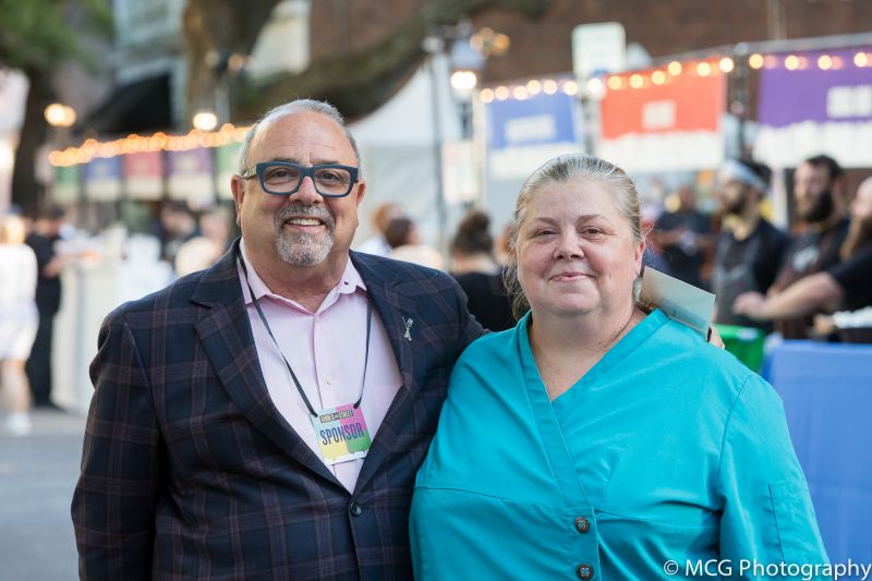 Micky Bakst and Charleston Grill executive chef Michelle Weaver