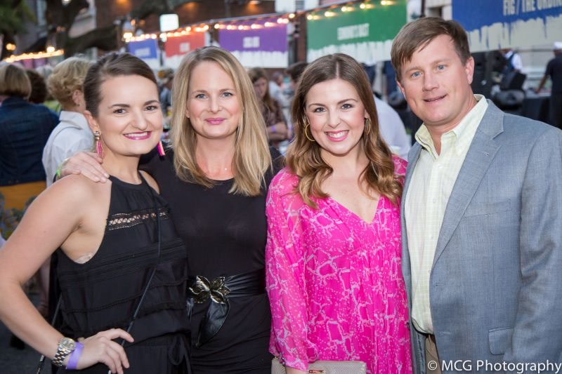Tabitha Nall and Amber Cote with Jackie and Judd Roberts