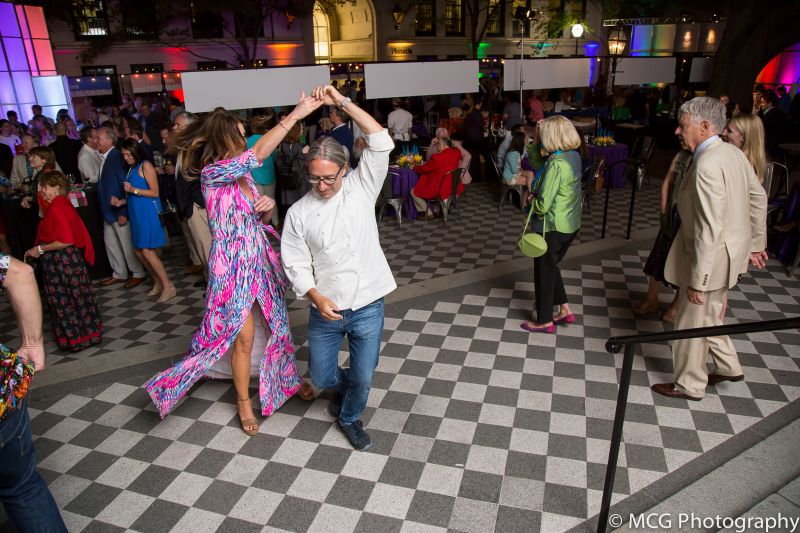 After serving the last patrons, Red Drum's Ben Berryhill takes to the dance floor.