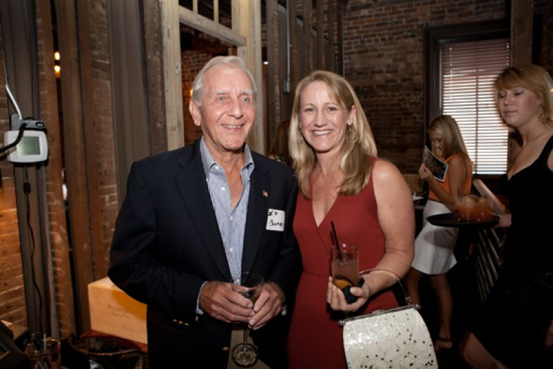 Charleston Club member Ed Clark with Charleston magazine editor-in-chief Darcy Shankland
