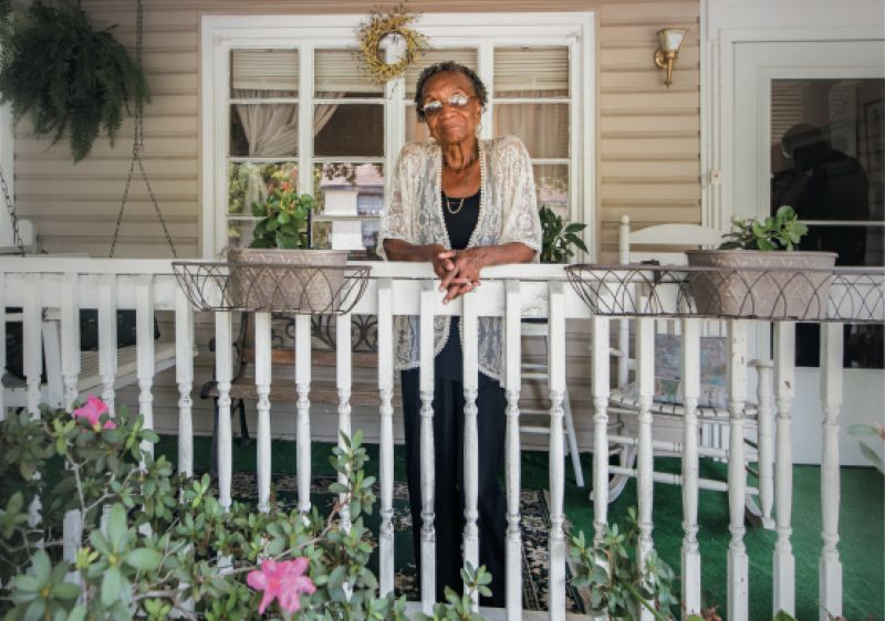 """Home Again: When she returned to Charleston from the West Coast, Martin-Carrington could have moved into an upscale neighborhood, but bought a house near her mother (who has since died) and not far from where she grew up. """"This is my home; it's where I want to create new opportunities and contribute,"""" she says."""