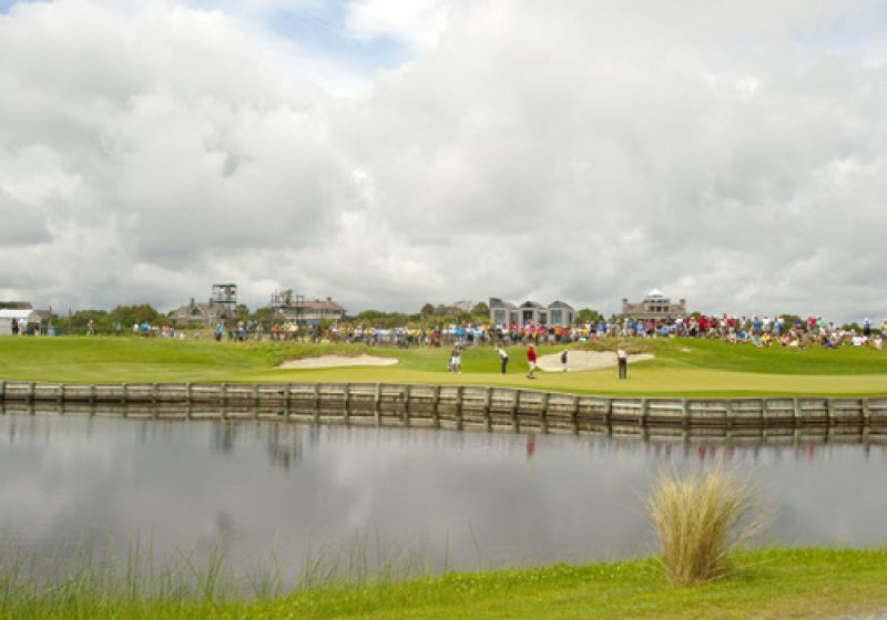 The par 3 17th is sure to host plenty of drama this weekend.