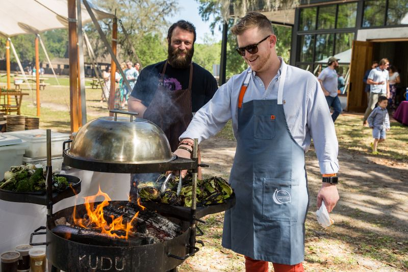 Bob Cook of Edmund's Oast and guest chef from The Grocery