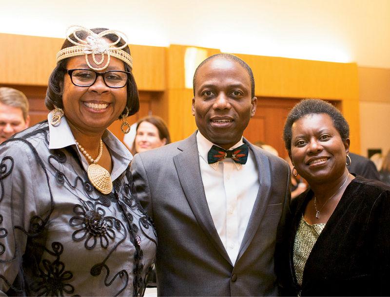 Barbara and Chuma Nwokike with Debra Williams