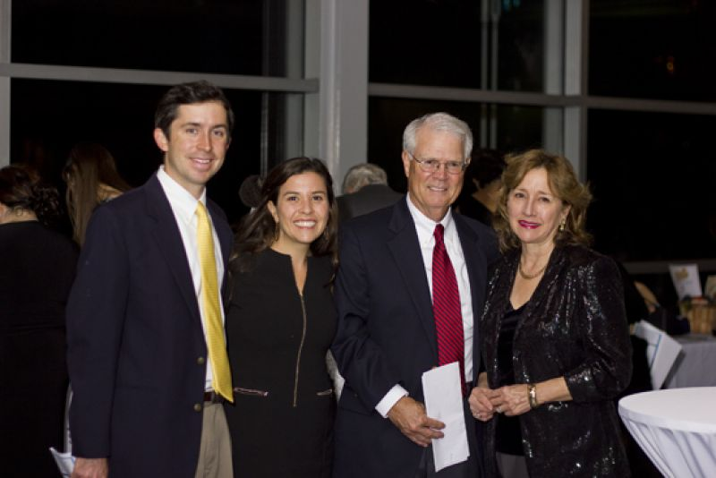 Mac Hodgson, Kathleen Stelling, Jim Stelling, and Kathy Stelling. Jim Stelling is a mentor and Going Places Gala honoree.