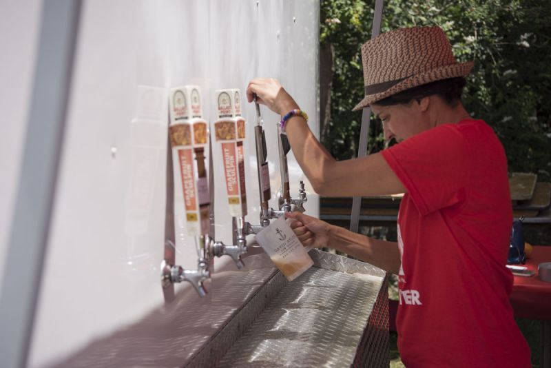 Attendees helped themselves to beer taps from breweries across the southeast region.