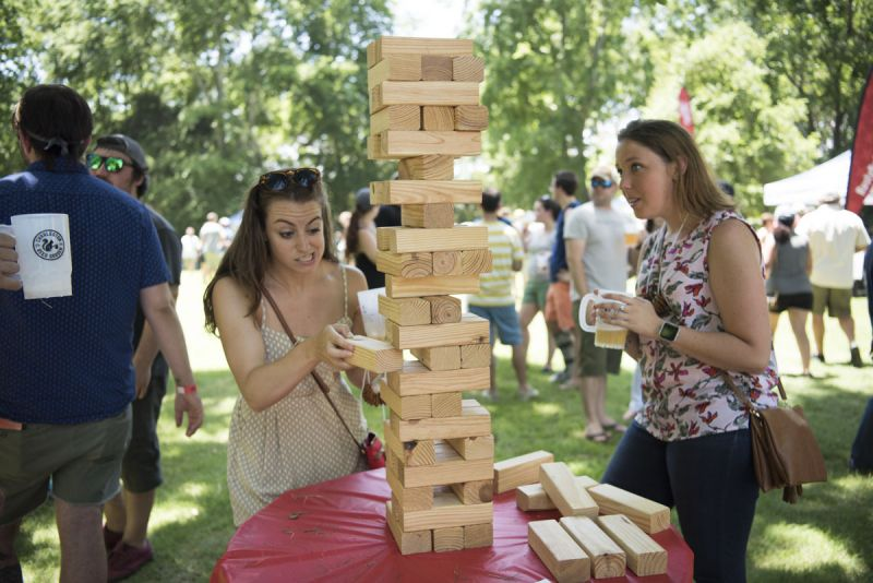 Giant Jenga was just one of the many games available.